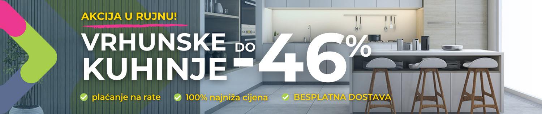 Kuhinje do -46%