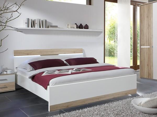 Krevet ELINA (San Remo/Bijela) - Sniženje