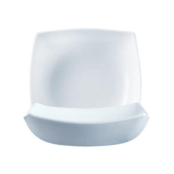 Duboki tanjuri Luminarc Quadrato Bijeli (6 kom)