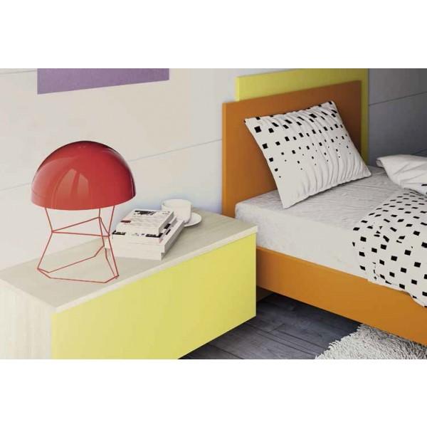 Dječja soba Colombini Volo C101 - krevet i zidni ormarić s policom