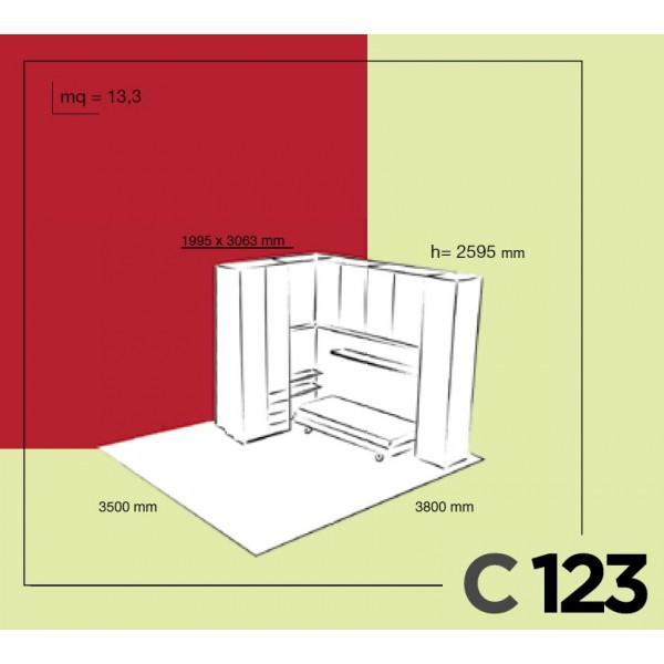 Dječja soba Colombini Volo C123 - skica