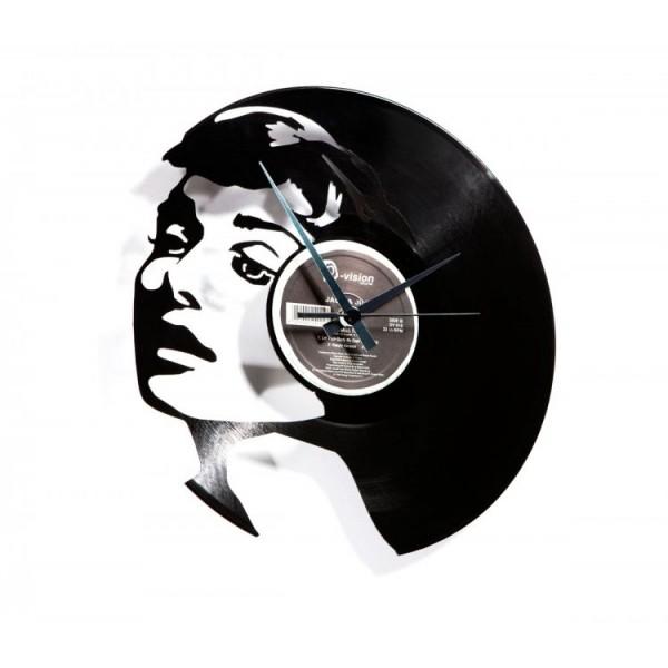 Zidni sat Disc'o'clock World Audrey Hepburn