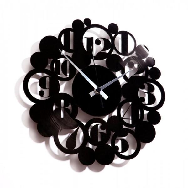 Zidni sat Disc'o'clock Bodoni Bubbles