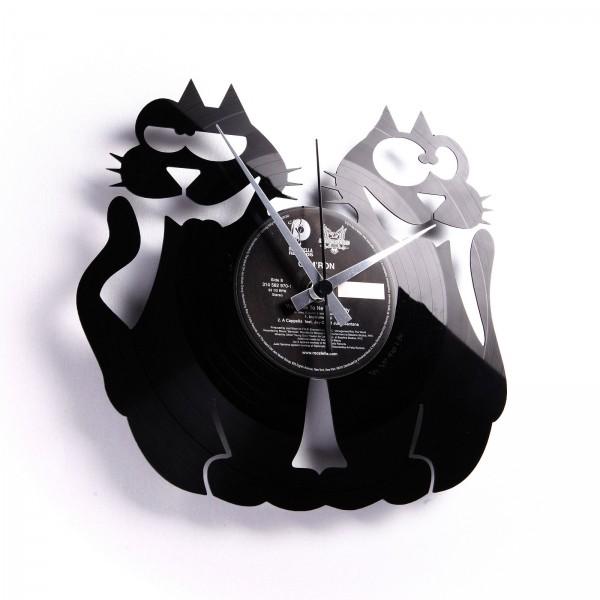 Zidni sat Disc'o'clock Cats!