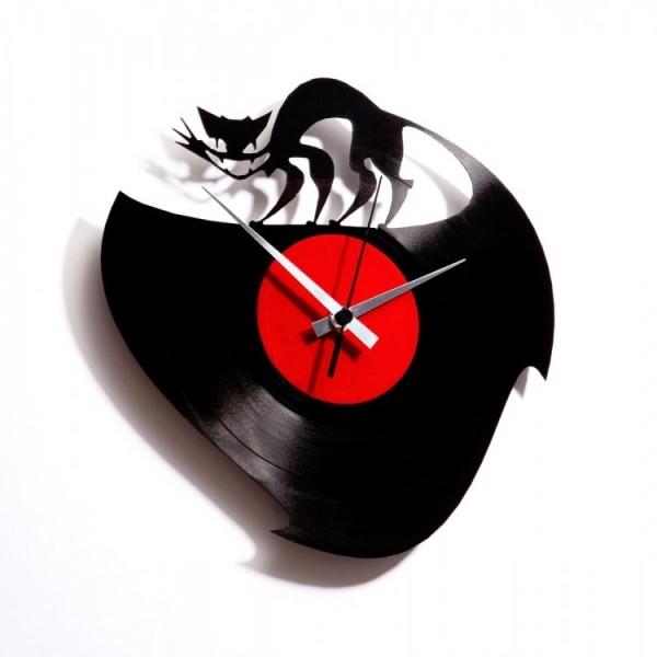 Zidni sat Disc'o'clock Curiosity Killed the cat