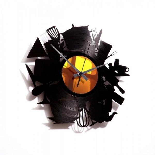 Zidni sat Disc'o'clock Kitchen Madness
