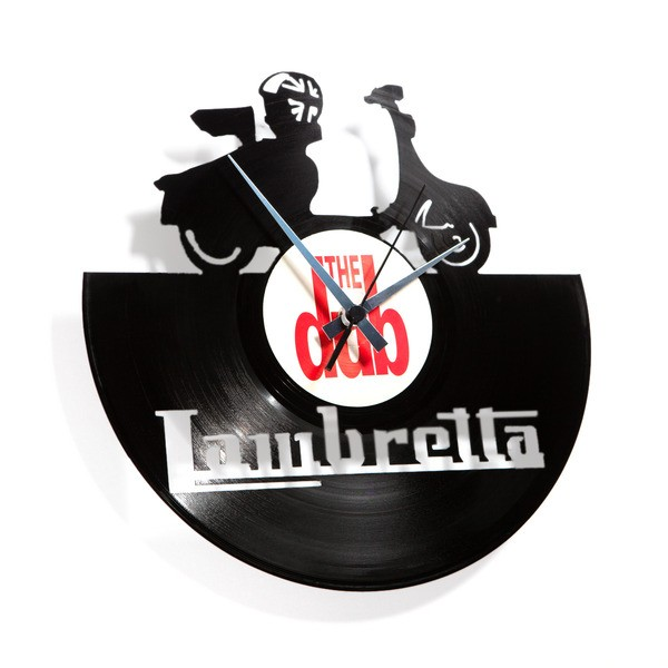 Zidni sat Disc'o'clock Lambretta