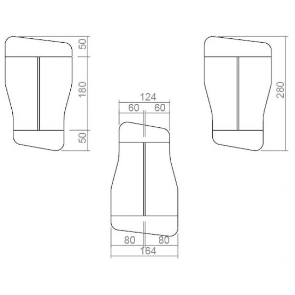 Uredski stol TK08-dimenzije