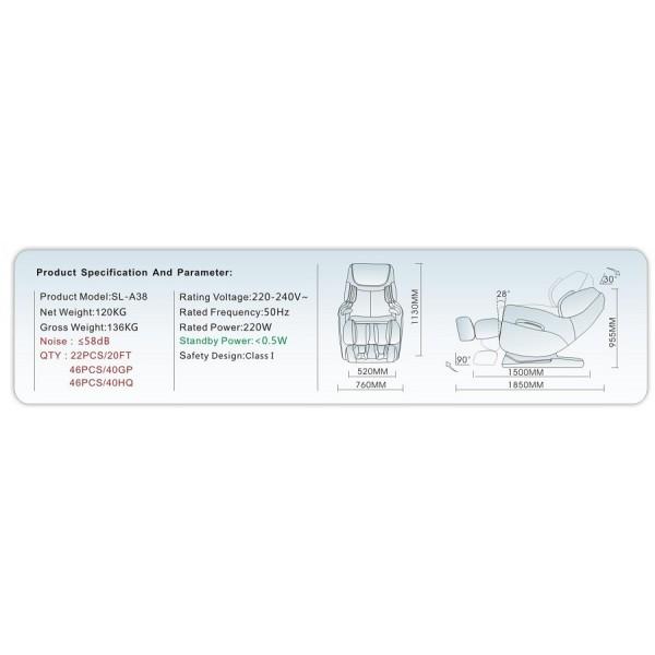 Profesionalna masažna fotelja FARAON - specifikacije