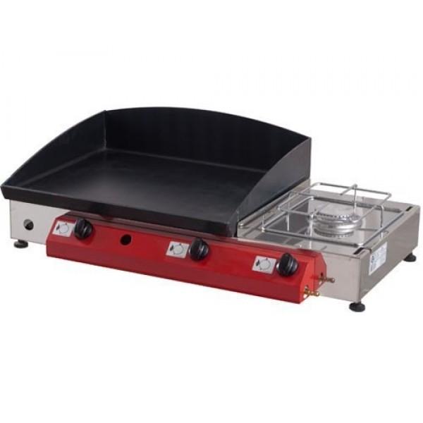 Stolni plinski roštilj Gorenc, 80 x 40, Fe 5mm ploča, dva plamenika, kuhalo, bez nogu