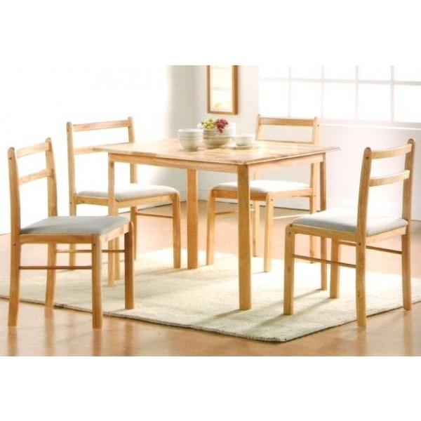 Blagovaonski set RUBBY - stol +4 stolice
