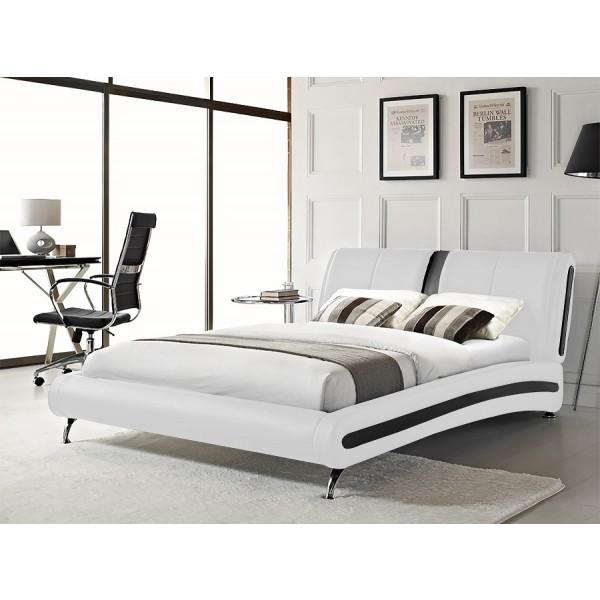 Krevet Onix Simple - Bijela (s crnim detaljima)
