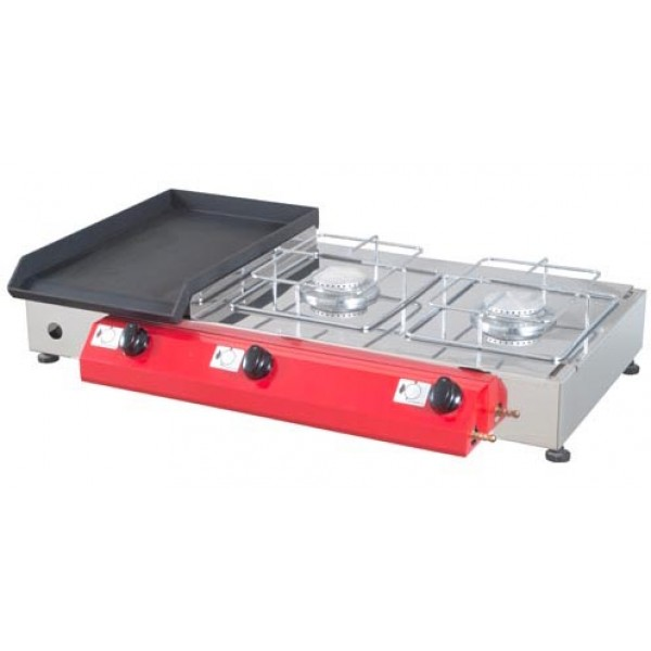 Stolni plinski roštilj Gorenc, 80x40, Fe ploča, dva kuhala, bez nogu