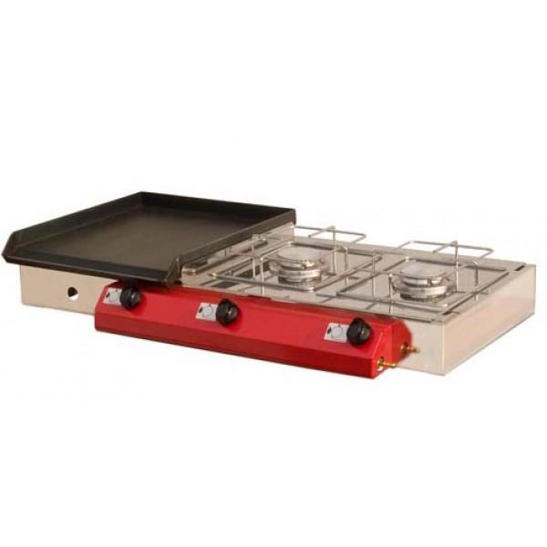 Stolni plinski roštilj Gorenc, 90x40, Fe ploča, dva kuhala, bez nogu