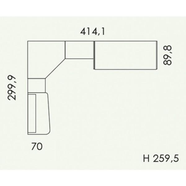 Dječja soba Colombini Volo V309 - tloris