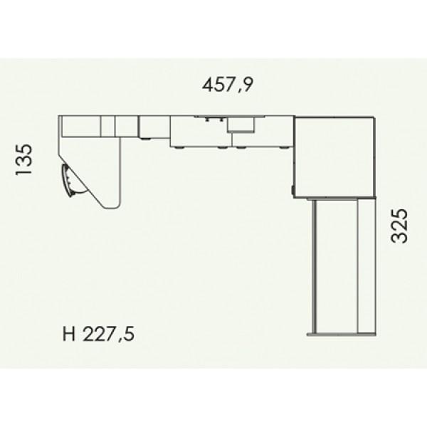 Dječja soba Colombini Volo V310 - tloris