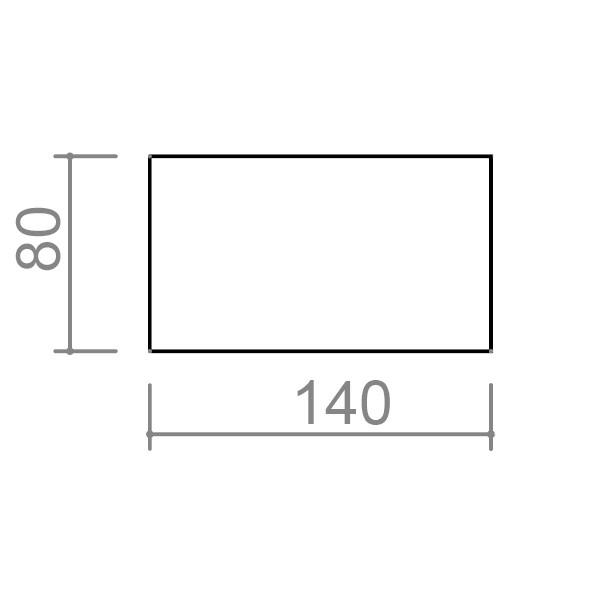 Uredski stol TK01 - dimenzije - 2