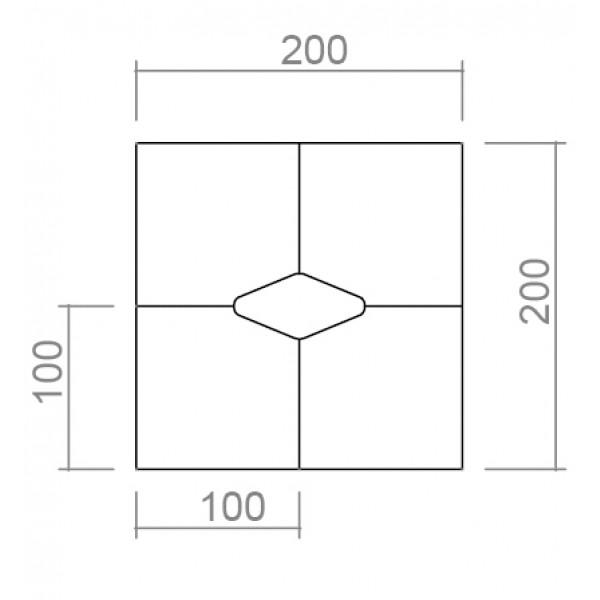 Konferencijski stol TK04 - dimenzije