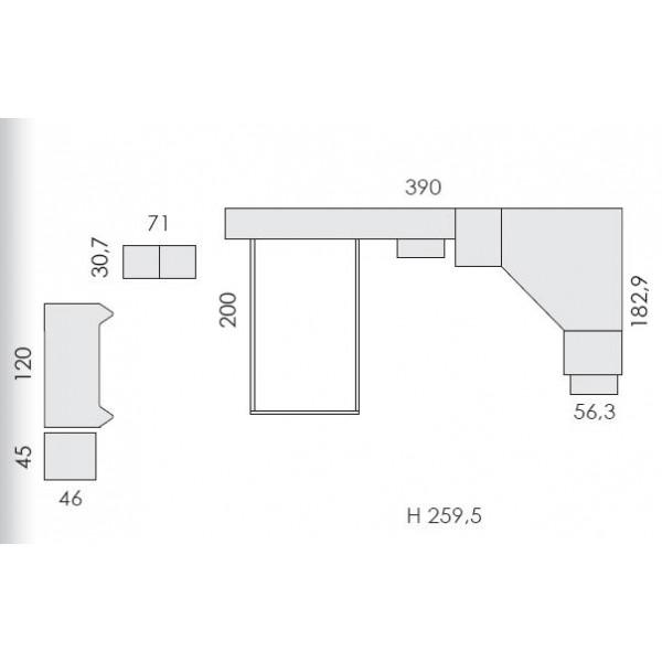Dječja soba Eresem Volo VP501U - tloris
