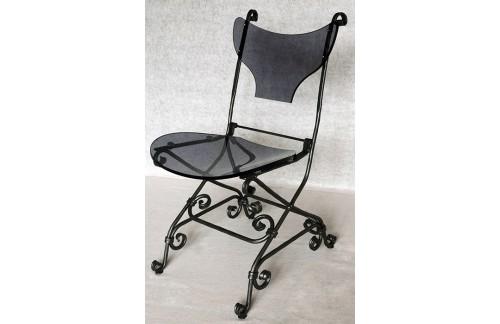 Ručno kovana stolica s akrilnim staklom