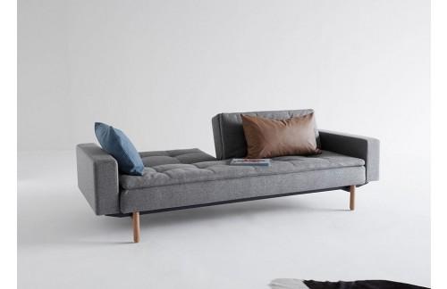 Kauč DUBLEXO SOFA BED s rukonaslonima i s svjeto drvenim nogicama