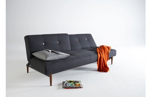 Kauč FIFTYNINE SOFA BED s tamno stileto drvenim nogicama
