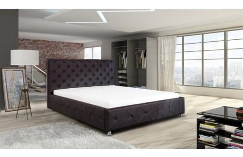 Oblazinjena postelja ANJA - črna