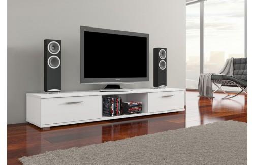 TV regal ARIDEA-Bijela, visoki sjaj
