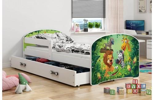 Krevet LUKI s ladicom-Bijela-Jungle