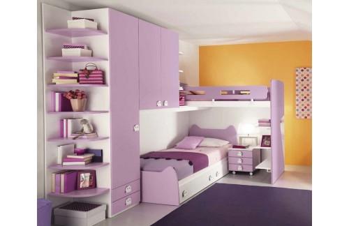 Dječji krevet na kat Colombini Volo C138
