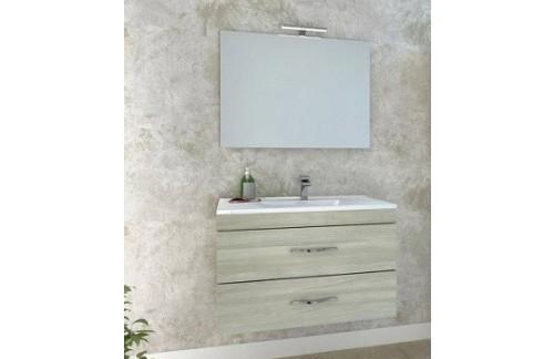 Ormarić s umivaonikom CORALLO 80 cm - bijeli hrast - RASPRODAJA