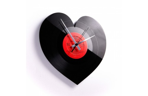 Zidni sat Disc'o'clock Heart