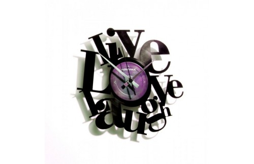 Zidni sat Disc'o'clock Live, Love, Laugh