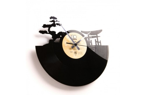 Zidni sat Disc'o'clock Sunset
