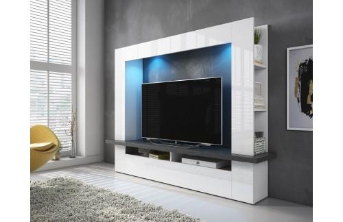TV stol LUGANO - Bijela/Antracit