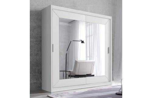 Klizni ormar s ogledalom ENZO (bijela)