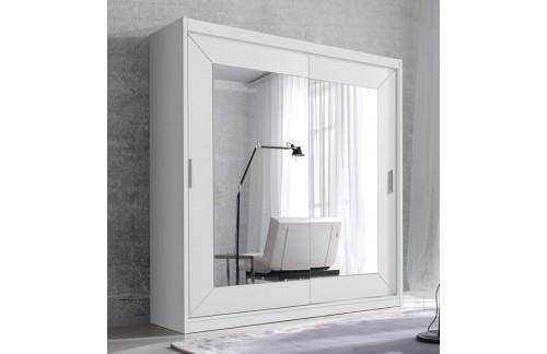 Klizni ormar s ogledalom ENZO (bijela)-200 - RASPRODAJA