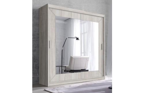 Klizni ormar s ogledalom ENZO (bor bijela)