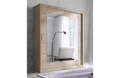 Klizni ormar s ogledalom ENZO (svijetla sonoma hrast) - 150 cm