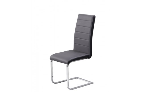 Stolica Tip Top: sivo sjedište, crni rub