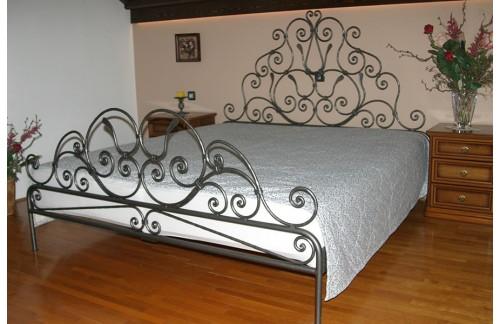 Ručno kovan krevet s dvojnim ležištem 180x200cm