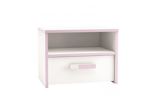 Nočna omarica SWITCH 121494 - z roza detajli