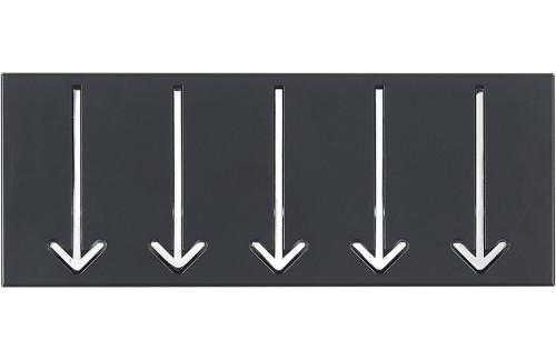 Vješalica ARROW 5 - crna