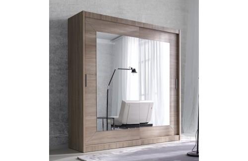 Klizni ormar s ogledalom ENZO (svijetla sonoma hrast)