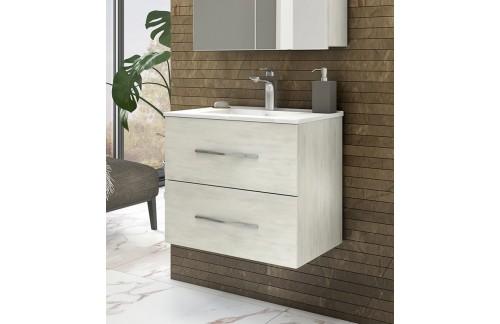 Ormarić s umivaonikom CORALLO 80 cm - bijeli hrast