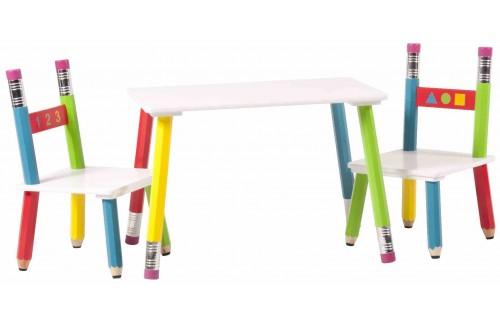 Otroški set stolov in mize PENCIL