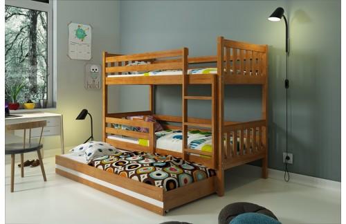 Krevet na kat CARINO s mogućnosti dodatnog ležaja – boja johe