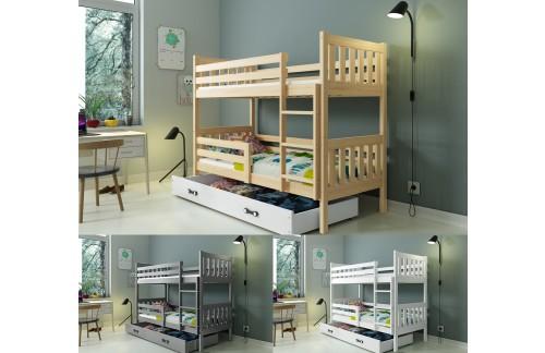 Krevet na kat CARINO 190x80 s ladicom + GRATIS ležajevi