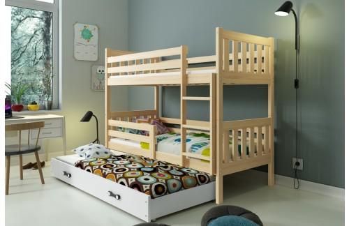 Krevet na kat CARINO s mogućnosti dodatnog ležaja – boja bora