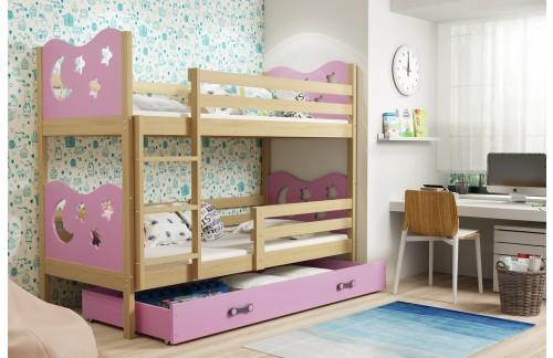 Krevet na kat MIKO s ladicom 90x200(različite boje) + GRATIS ležište